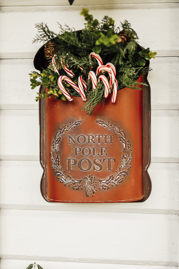Farmhouse Christmas Front Door by sheholdsdearly.com