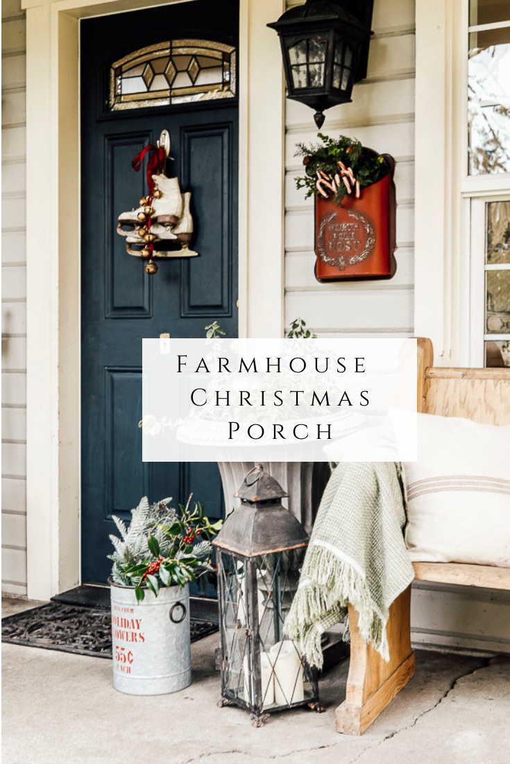 Farmhouse Christmas Porch by sheholdsdearly.com