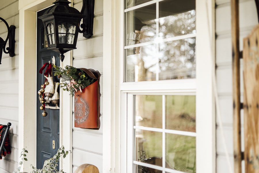 Farmhouse Winter Porch Decor by sheholdsdearly.com