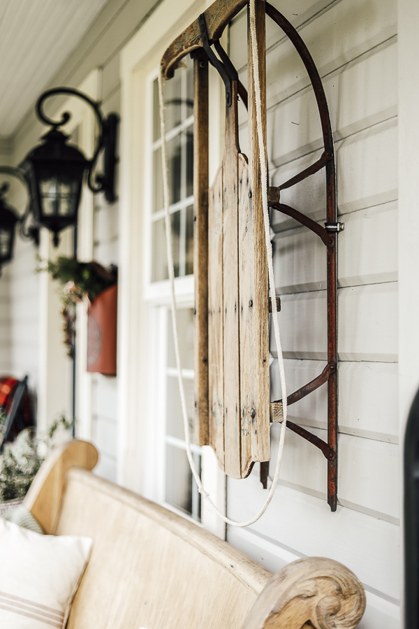 Farmhouse Winter Porch Ideas by sheholdsdearly.com
