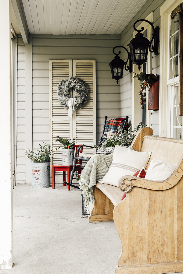 Farmhouse Winter Porch by sheholdsdearly.com