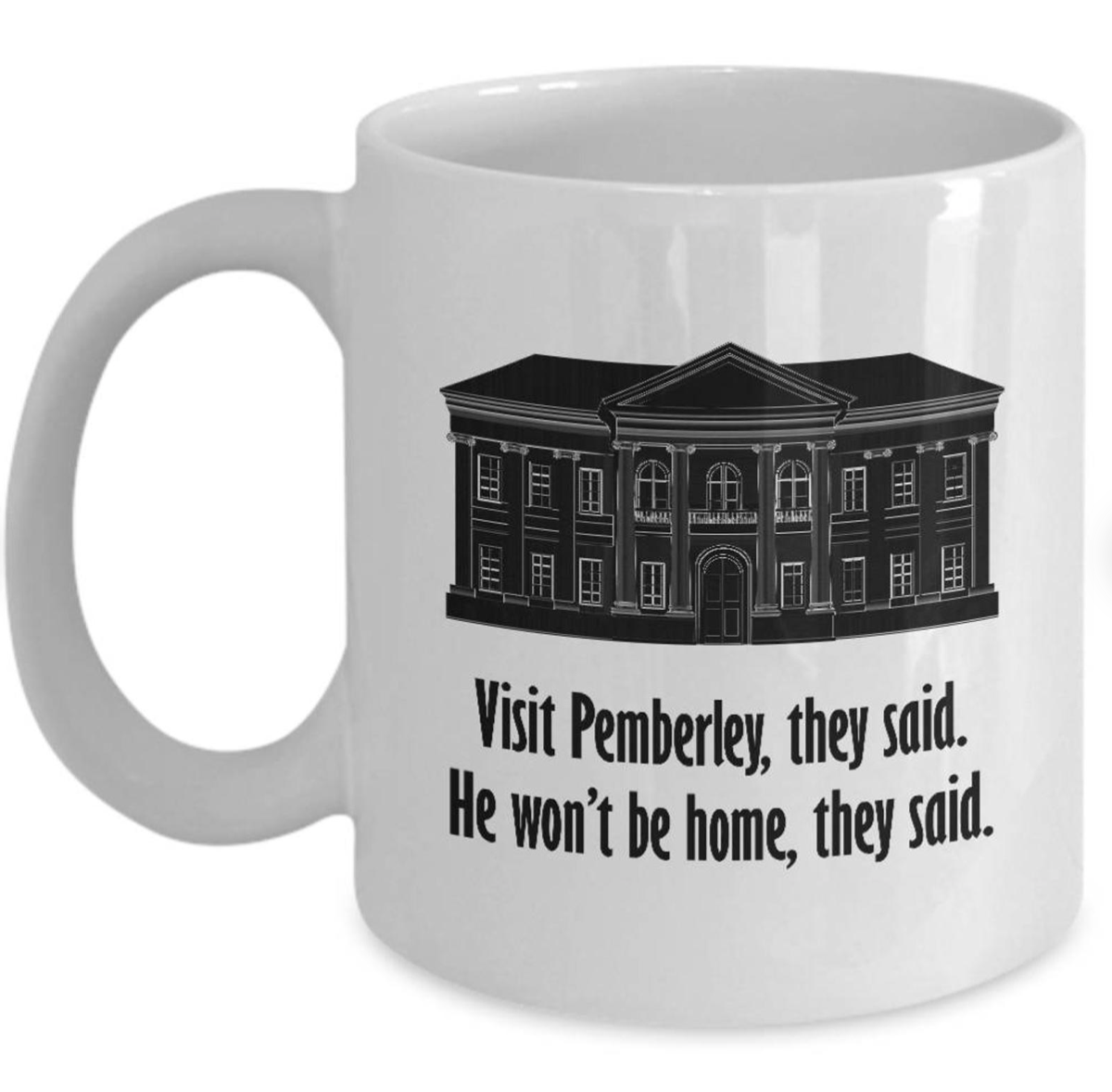 Pemberley Mug Gift by sheholdsdearly.com