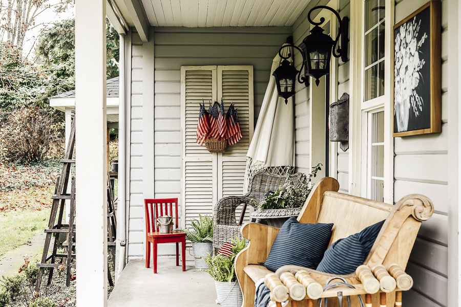 Summer Porch Ideas by sheholdsdearly.com