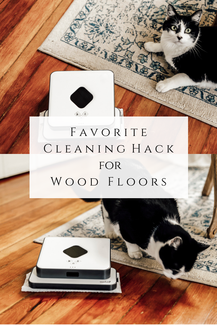 Favorite Cleaning Hack for Wood Floors by sheholdsdearly.com