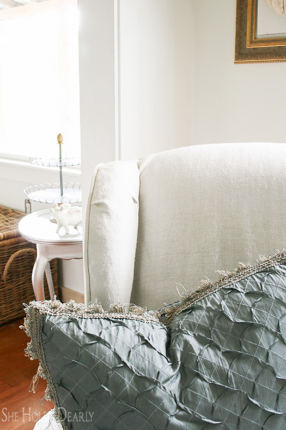 Create Custom Piping Upholstery Slipcover Tutorial by sheholdsdearly.com