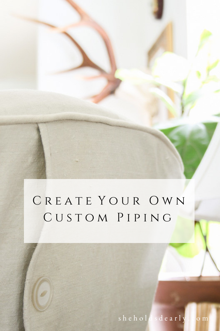 Create Custom Piping by sheholdsdearly.com