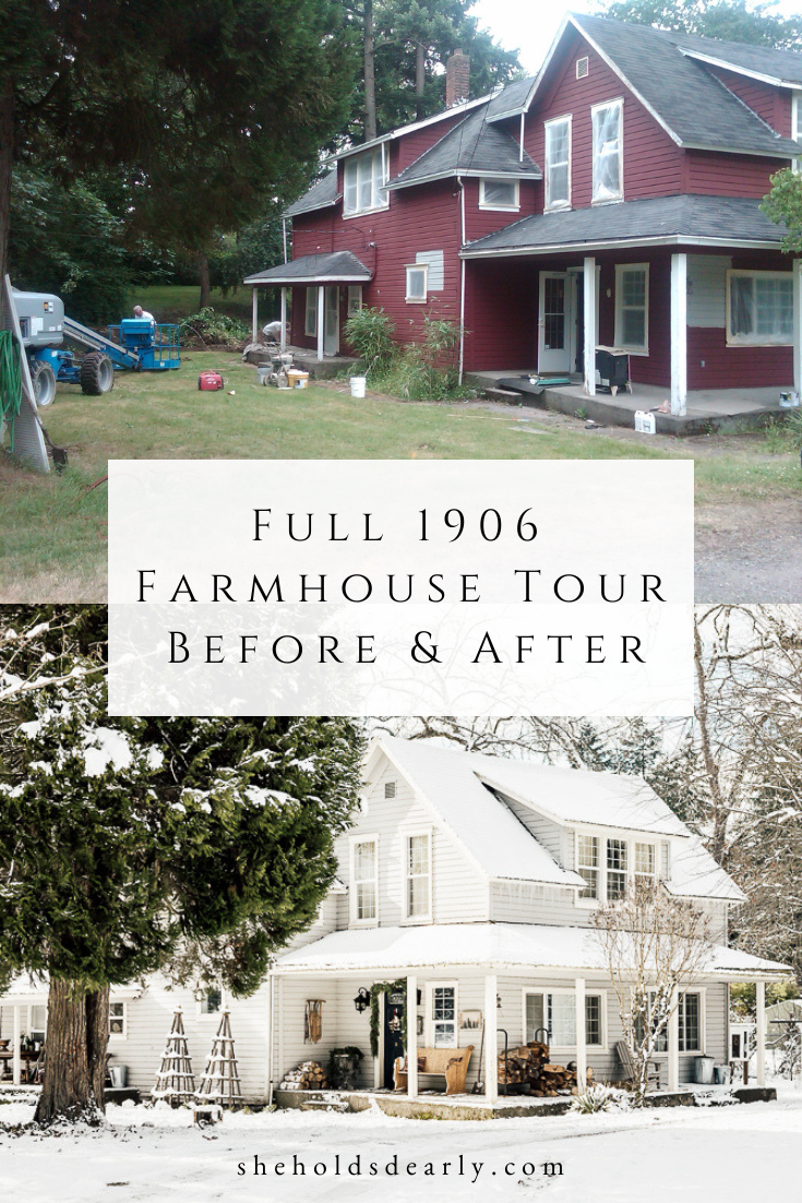 Full Farmhouse Tour Before and Afters by sheholdsdearly.com