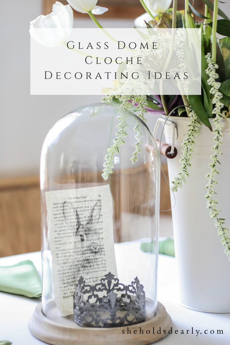 Glass Dome Cloche Decorating Ideas by sheholdsdearly.com