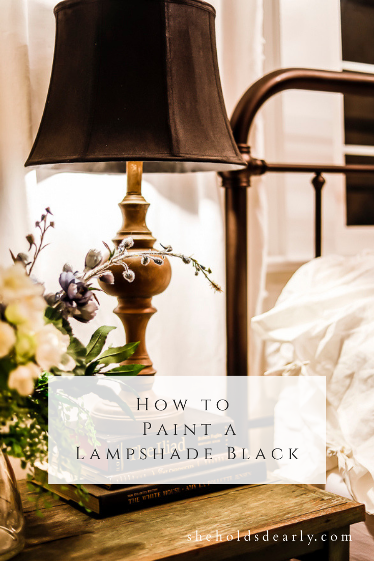 How to Paint a Lampshade Black by sheholdsdearly.com