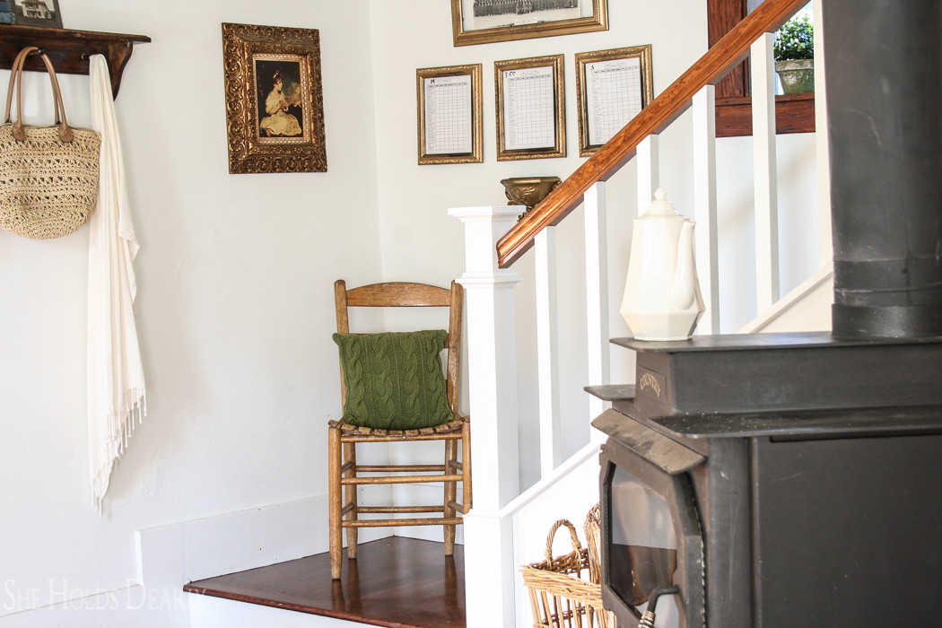 Newel Post Makeover by sheholdsdearly.com