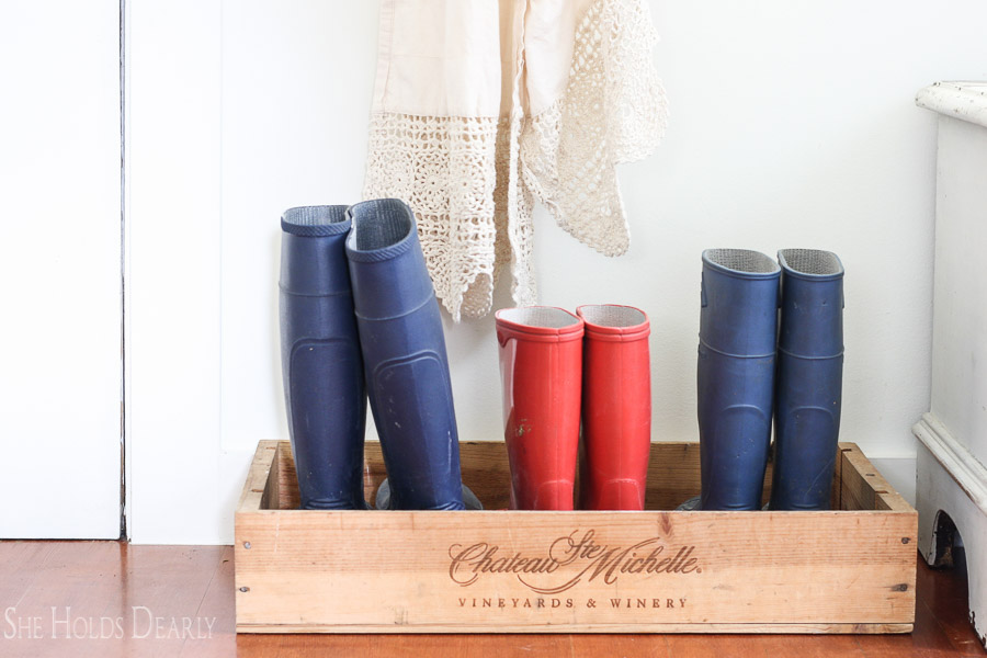 Wine Crate Boot Tray by sheholdsdearly.com