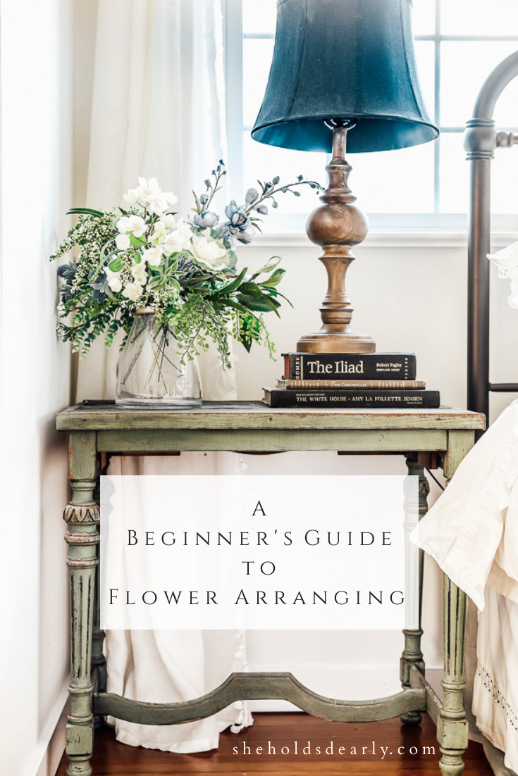 A Beginners Guide to Flower Arranging by sheholdsdearly.com
