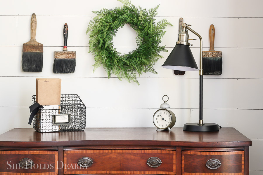 Add Farmhouse Style to Builder Grade Home by sheholdsdearly.com