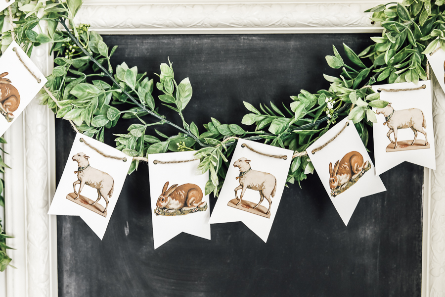 DIY Spring Bunting by sheholdsdearly.com