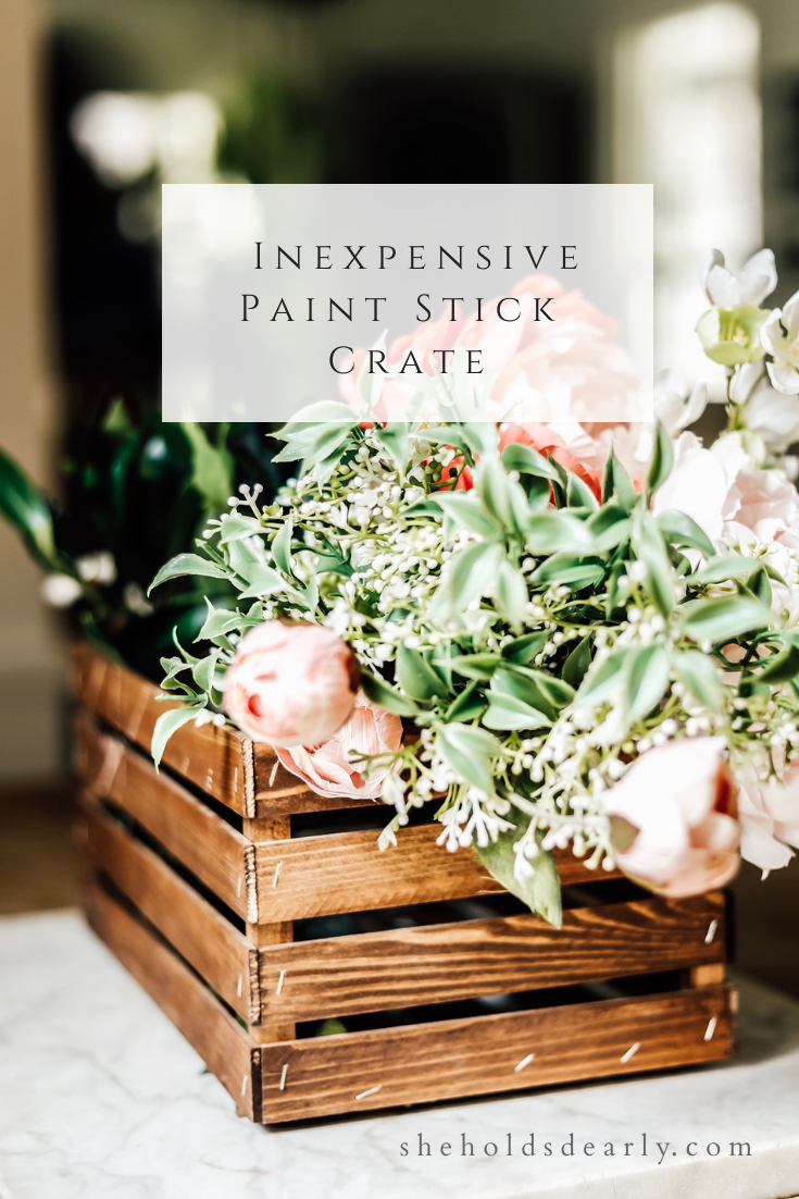 Inexpensive Paint Stick Crate by sheholdsdearly.com