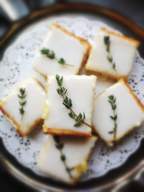 Lemon Thyme Bars Easter Dessert