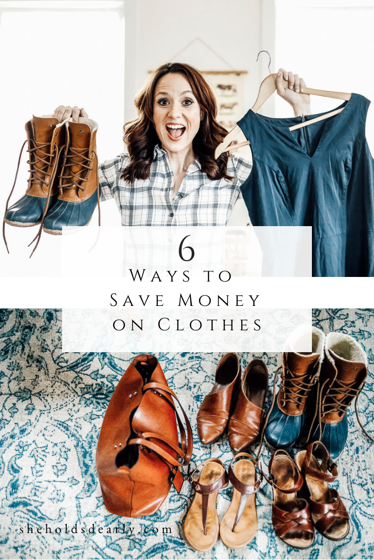 Ways to Save Money on Clothes by sheholdsdearly.com