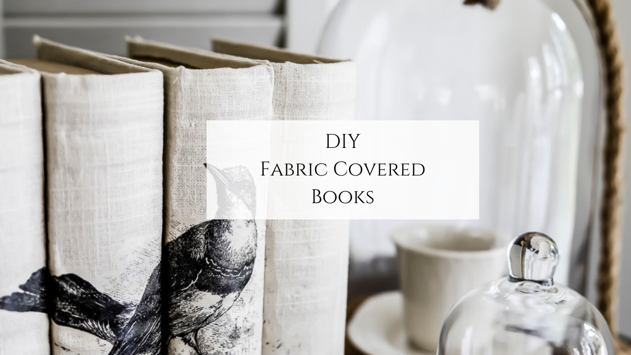 DIY Fabric Covered Books by sheholdsdearly.com