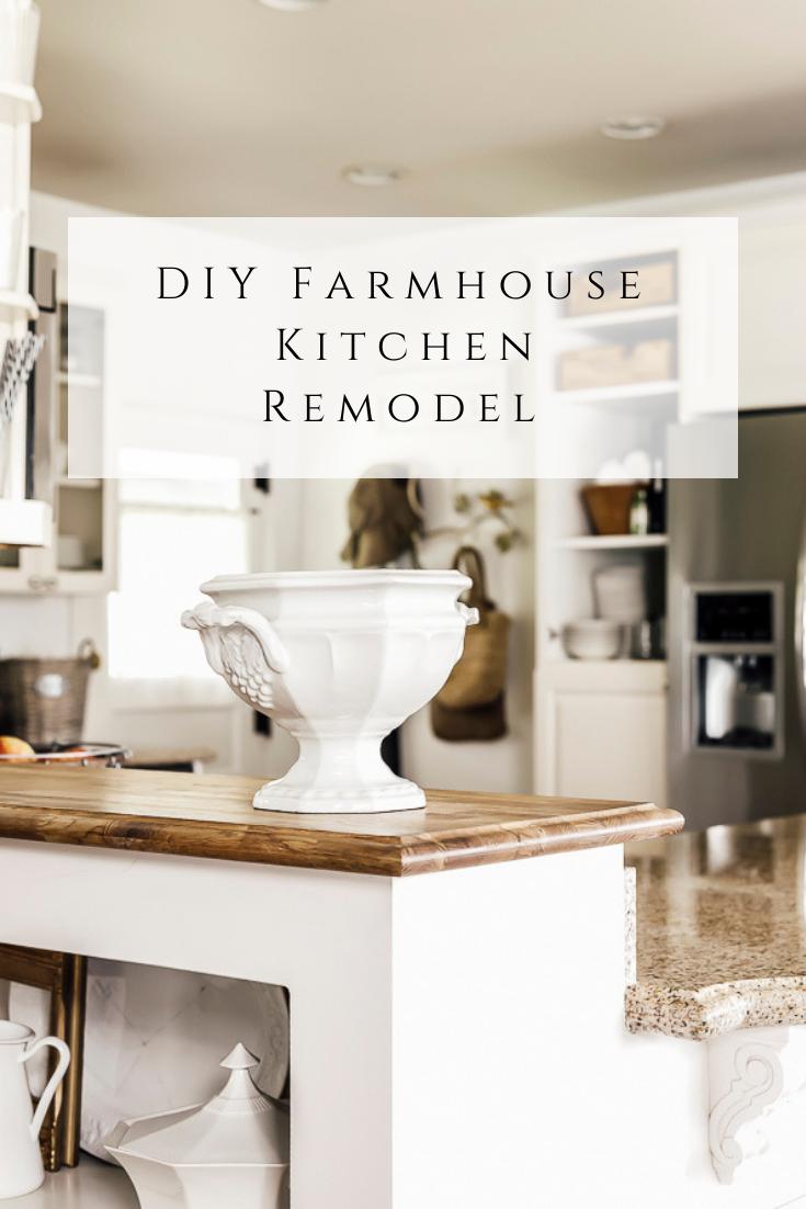 DIY Farmhouse Kitchen Remodel by sheholdsdearly.com