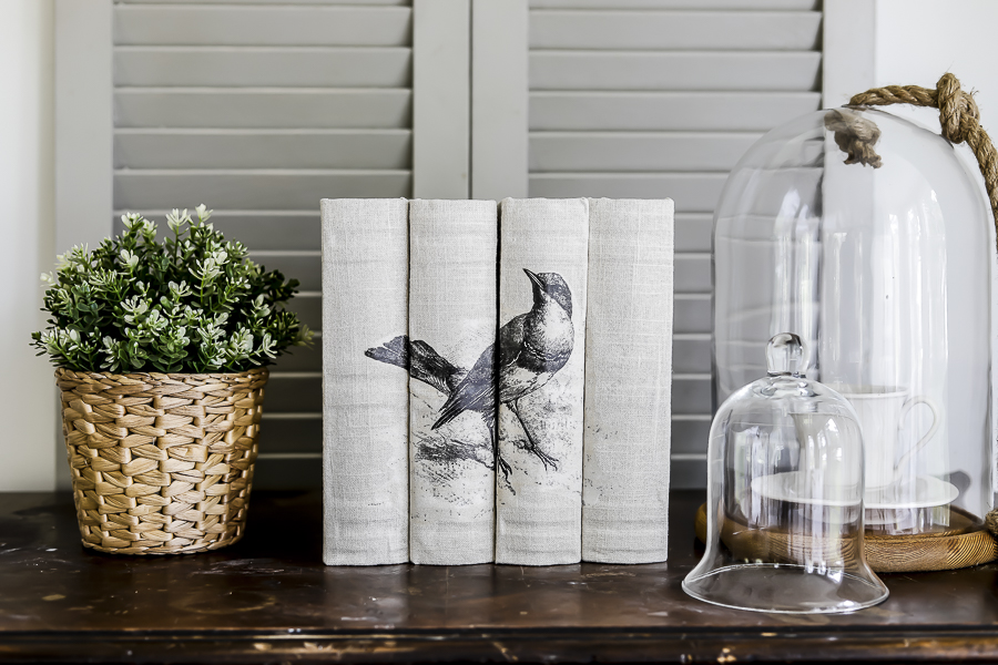DIY Linen Covered Books by sheholdsdearly.com