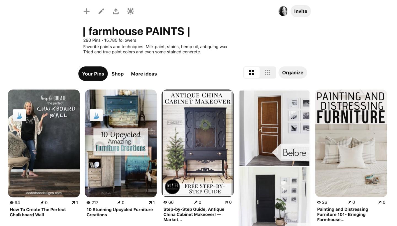 Farmhouse Paints Pinterest Board by sheholdsdearly.com