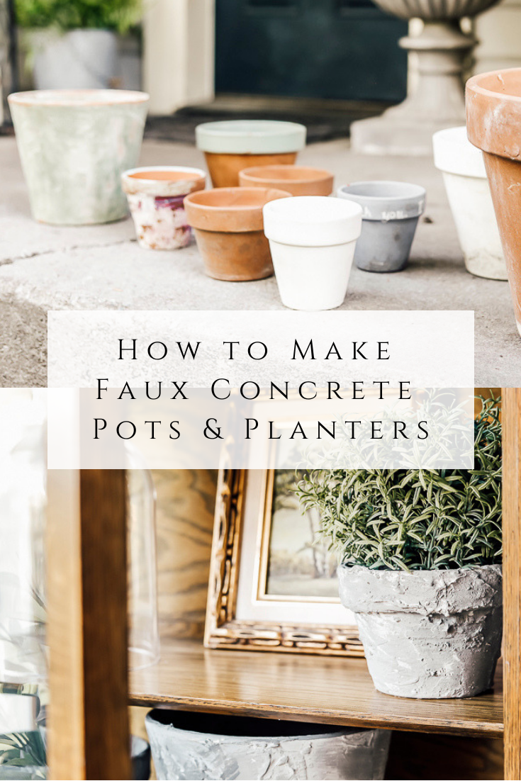 How to Make Faux Concrete Pots and Plantersby sheholdsdearly.com