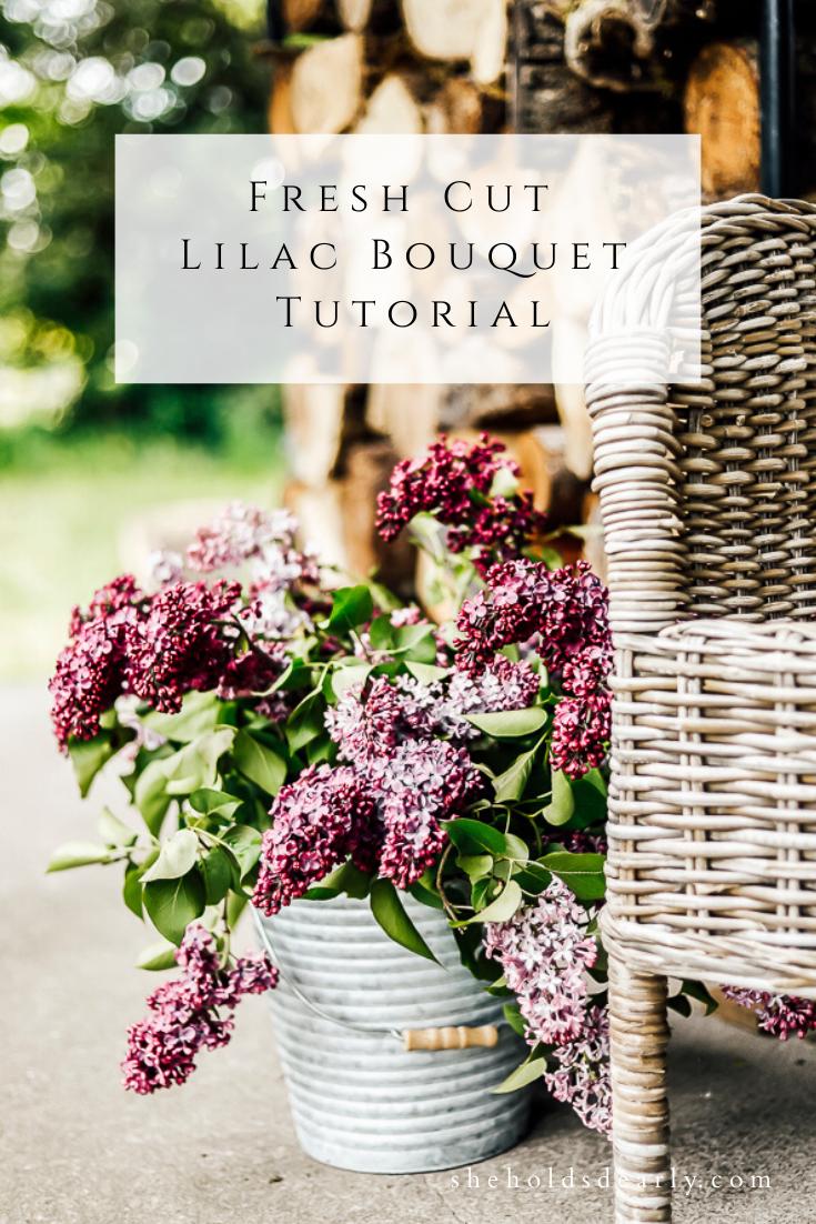 Fresh Cut Lilac Bouquet by sheholdsdearly.com