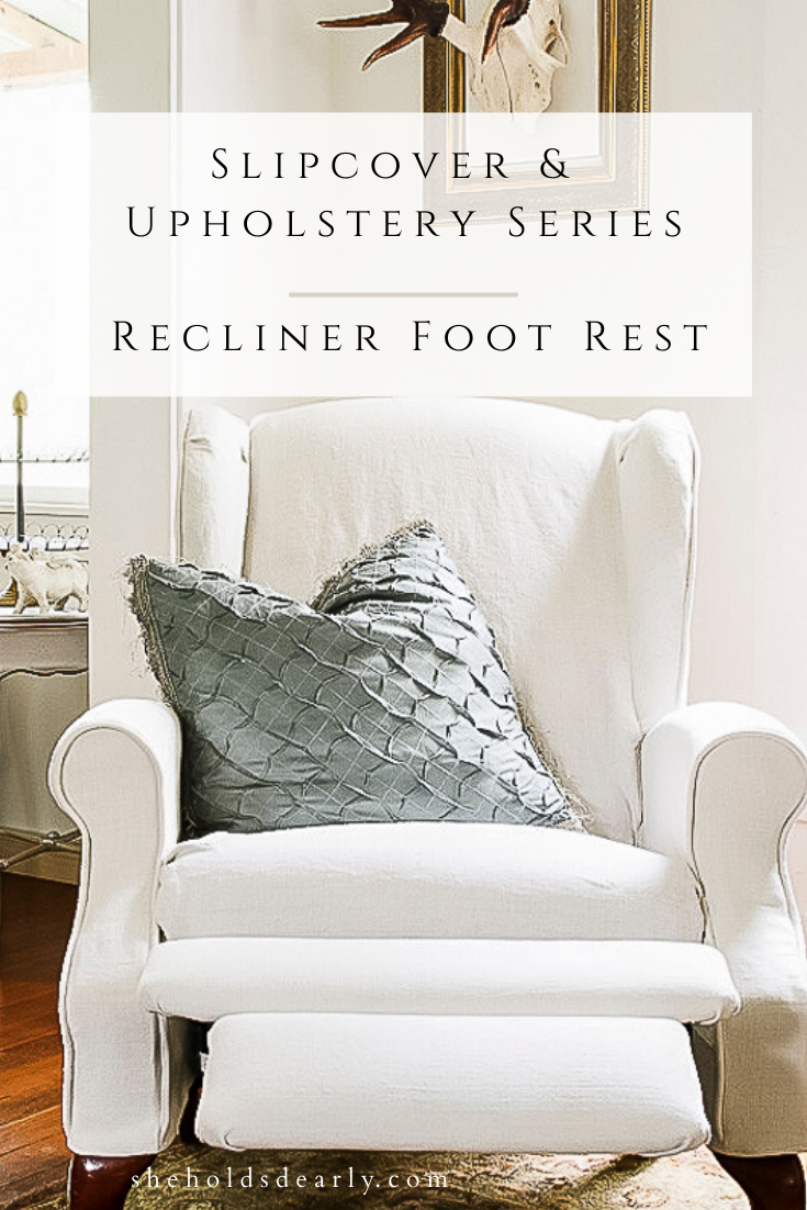 Slipcover Upholstery Recliner by sheholdsdearly.com