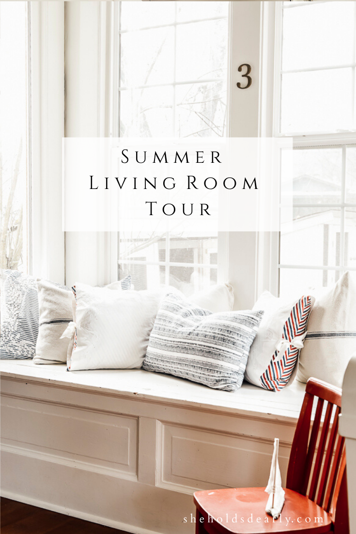 Summer Living Room Tour by sheholdsdearly.com