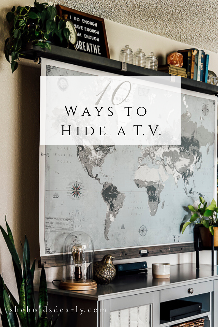 10 Ways to Hide a TV by sheholdsdearly.com