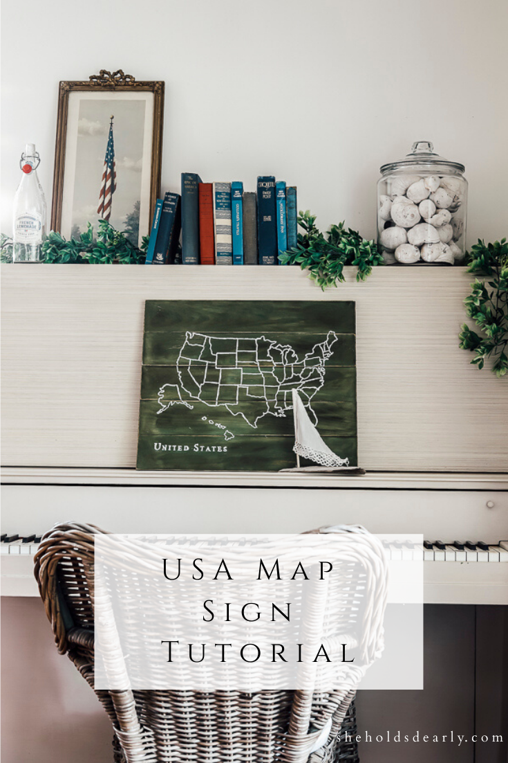USA Map Sign Tutorial by sheholdsdearly.com