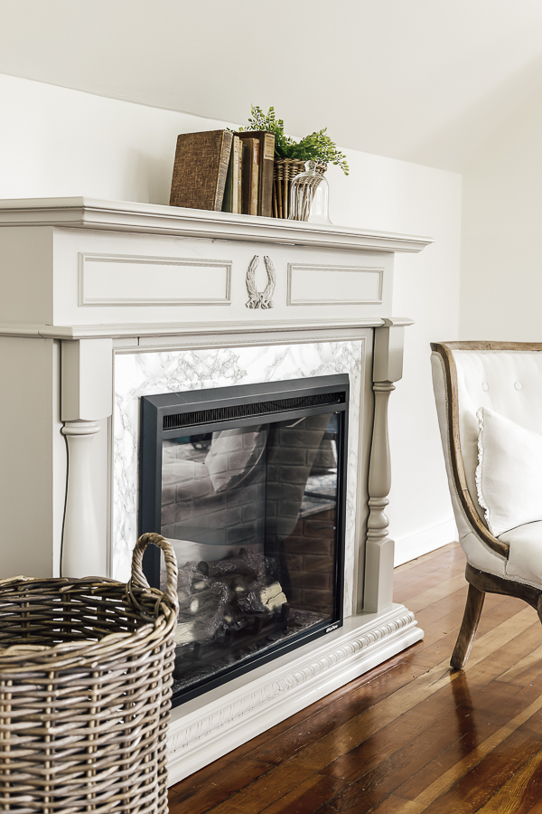 Adding Trim to a Mantle by sheholdsdearly.com