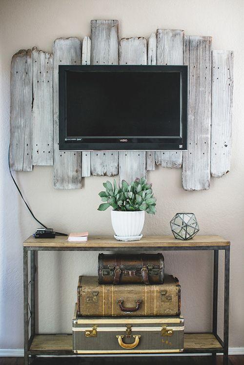 Flatscreen Over Driftwood - Designsponge.com