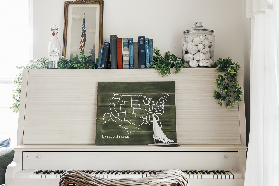 Distressed Farmhouse Map Sign by sheholdsdearly.com