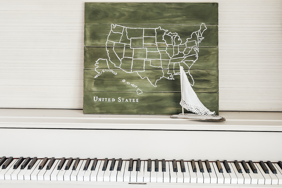 DIY USA Map Art Tutorial by sheholdsdearly.com
