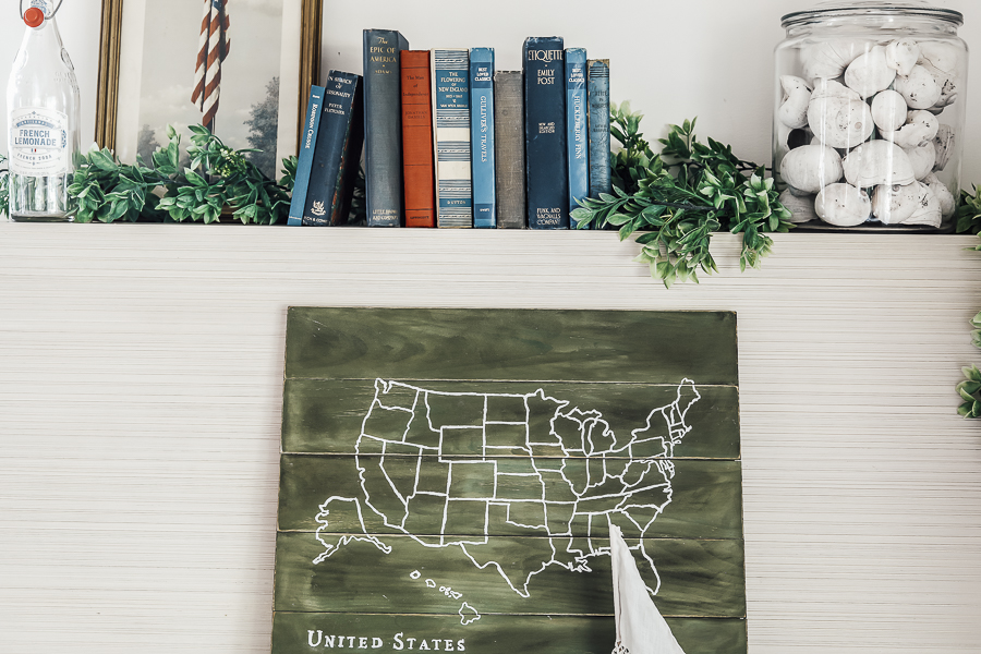 DIY USA Map Art by sheholdsdearly.com