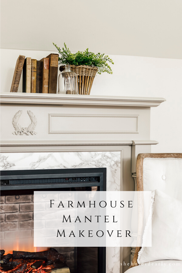 Farmhouse Mantel Makeover by sheholdsdearly.com