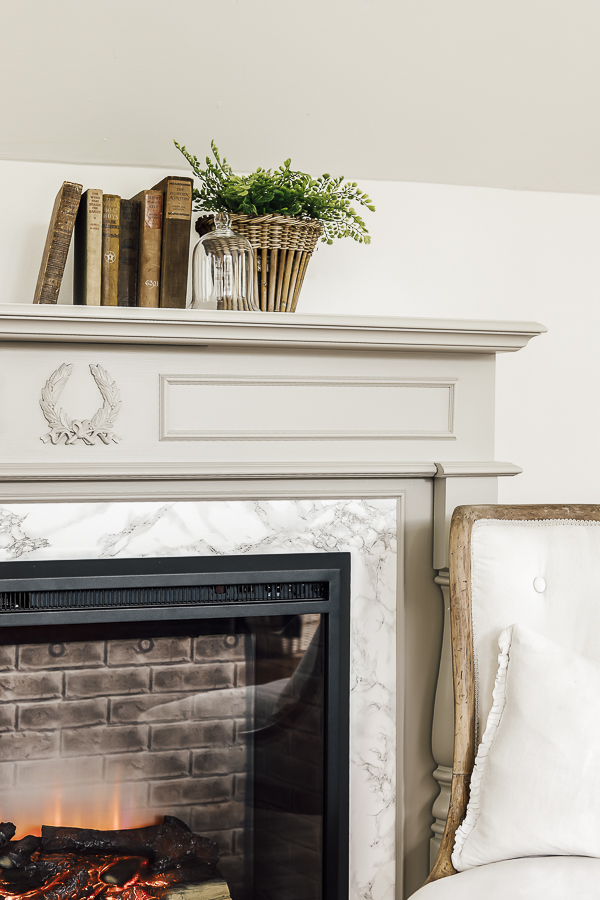Fireplace Makeover on a Budget by sheholdsdearly.com