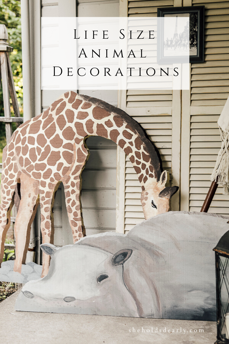 Life Size Animal Decorations by she holds dearly.com