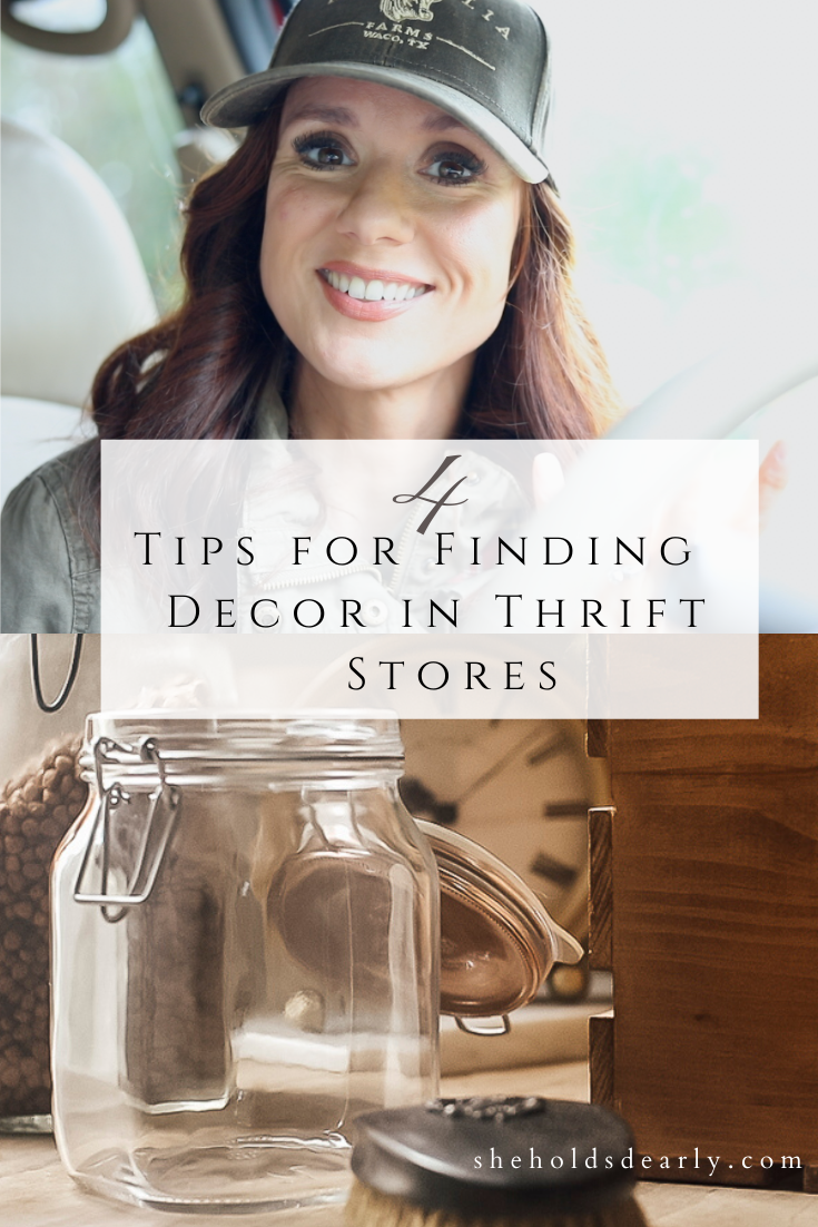 Tips for Finding Decor in Thrift Stores by sheholdsdearly.com