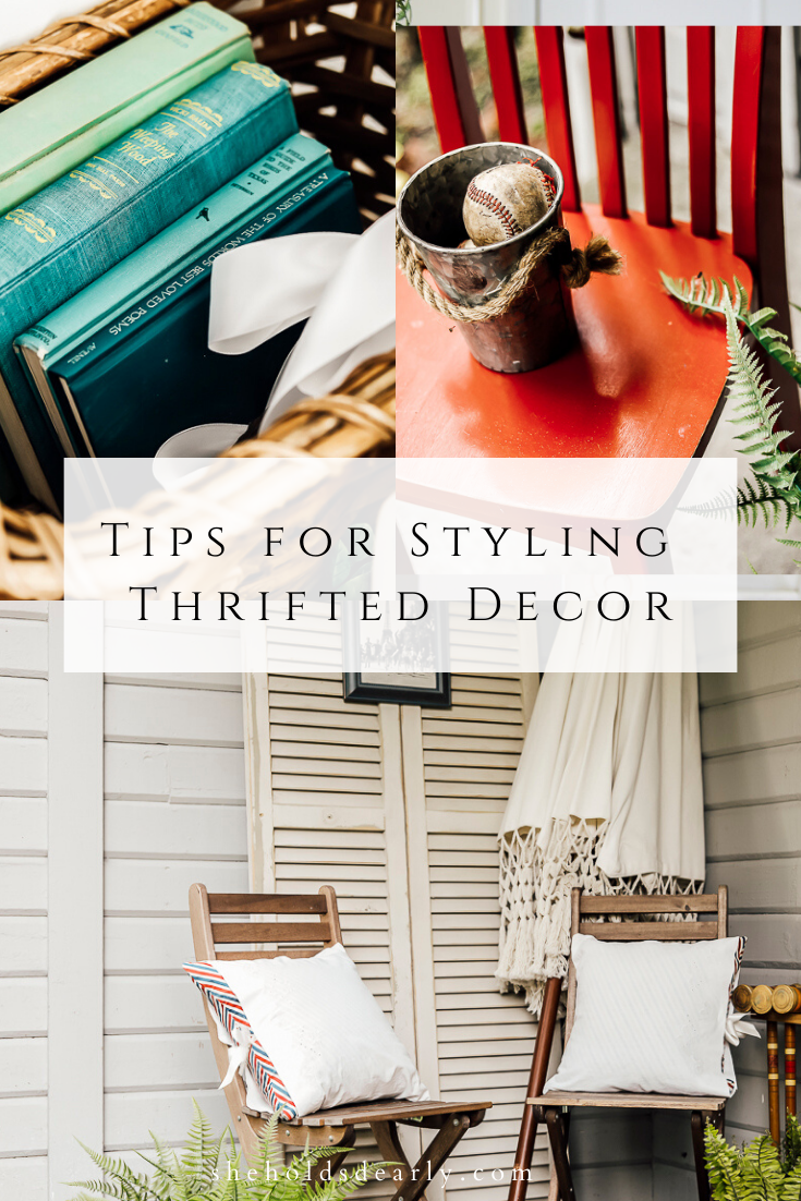 Styling Thrifted Decor by sheholdsdearly.com