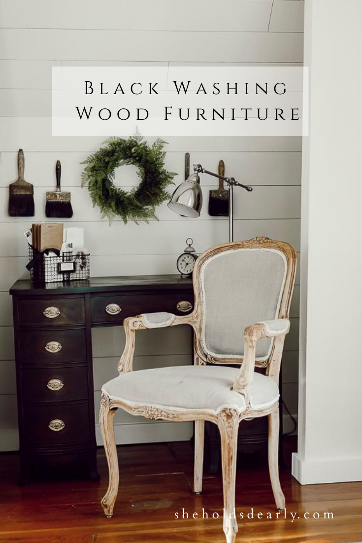 Black Washing Wood Furniture by sheholdsdearly.com