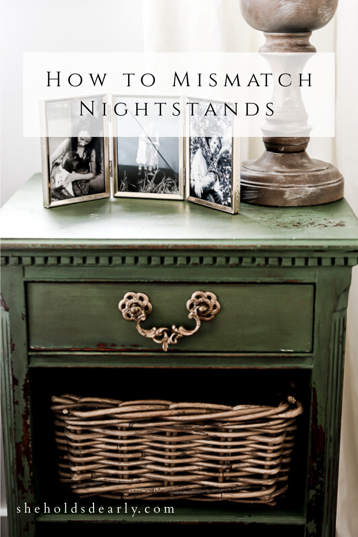 How to Mismatch Nightstands by sheholdsdearly.com