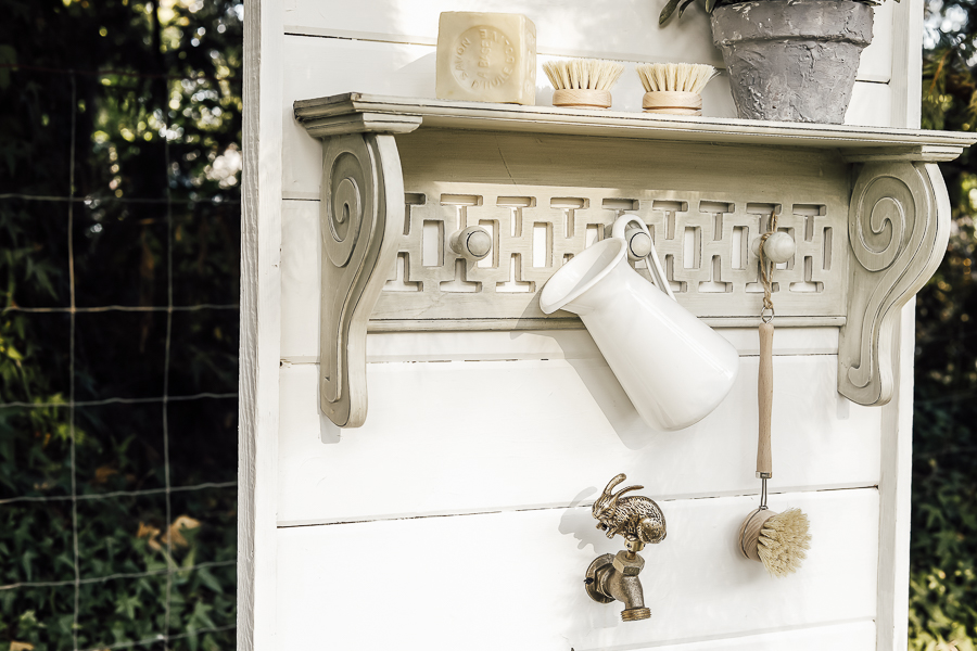Pedestal Sink Garden Decor by sheholdsdearly.com