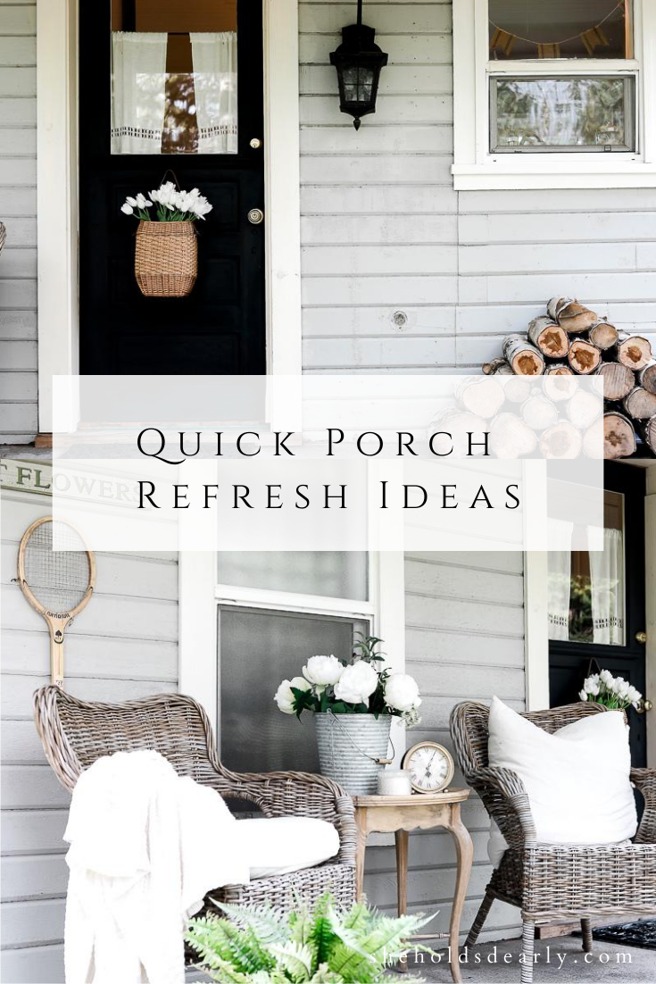 Quick Porch Refresh by sheholdsdearly.com