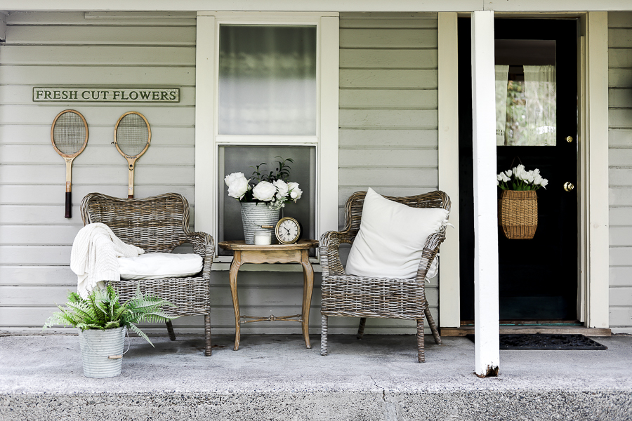 Wicker Furniture for Porch Decor by sheholdsdearly.com