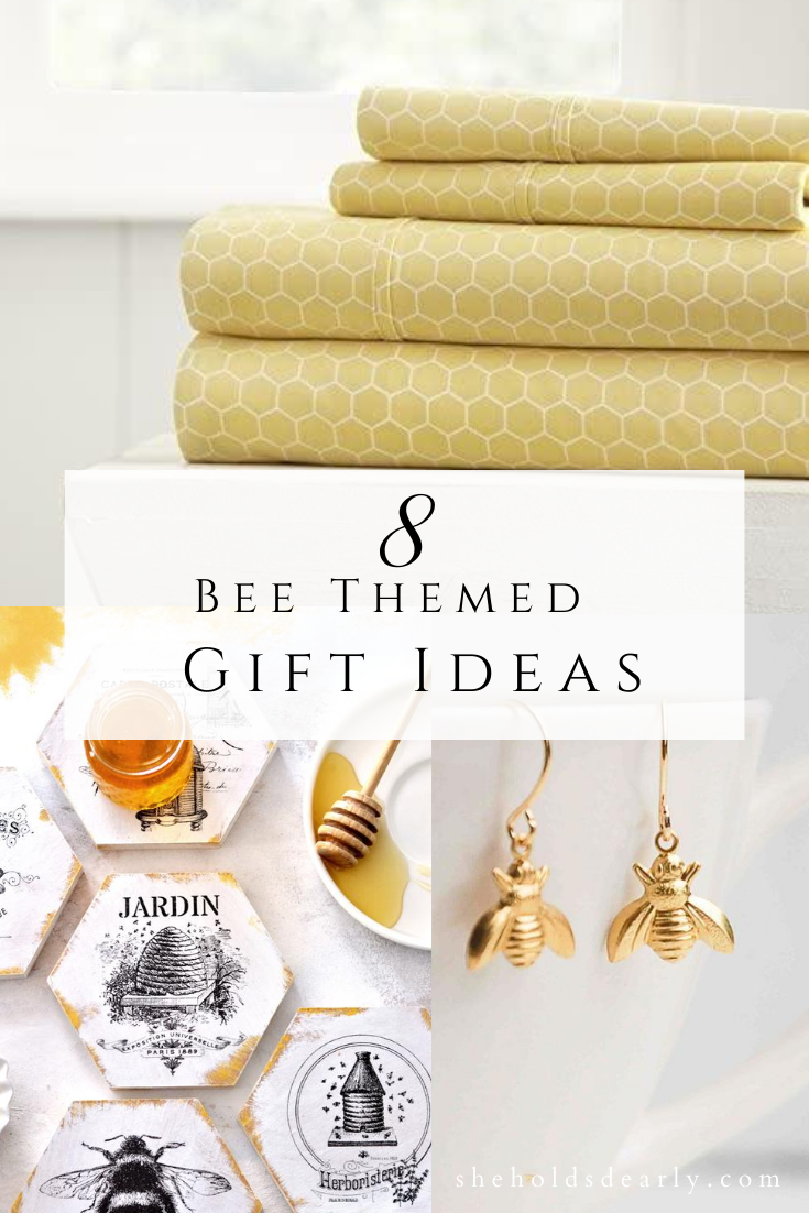 Bee Themed Gift Ideas by sheholdsdearly.com