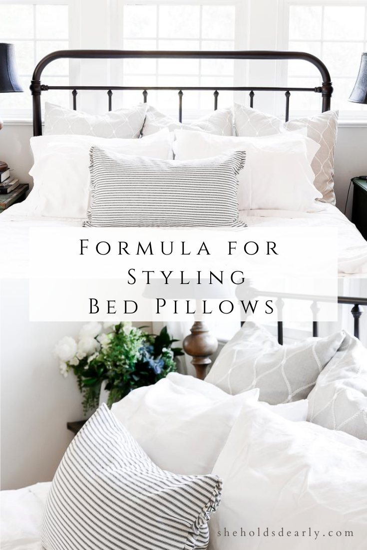 Formula for Styling Bed Pillows by sheholdsdearly.com