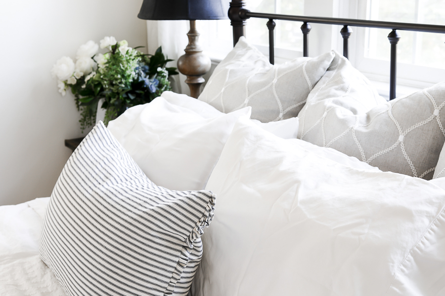 How to Style Bed Pillows by sheholdsdearly.com