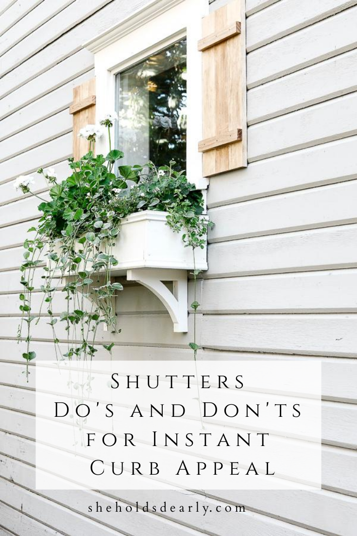 Shutters Dos and Donts Curb Appeal by sheholdsdearly.com